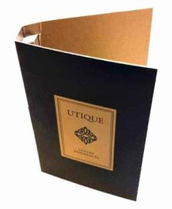 Utique Black Geursample