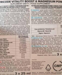Vitality Boost Magnesium Power Achterkant